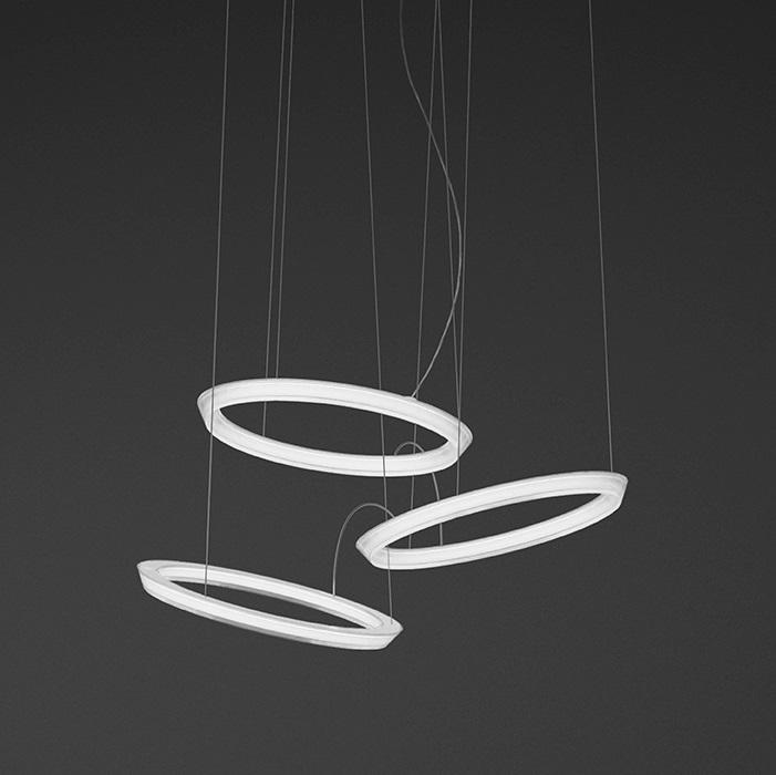Imagen 1 de Halo Pendant L& circular 3 Pendant L&s LED - Lacquered white Mate & Vibia Halo Pendant Lamp circular 3 Pendant 2332-03 - Lámparas de ... azcodes.com