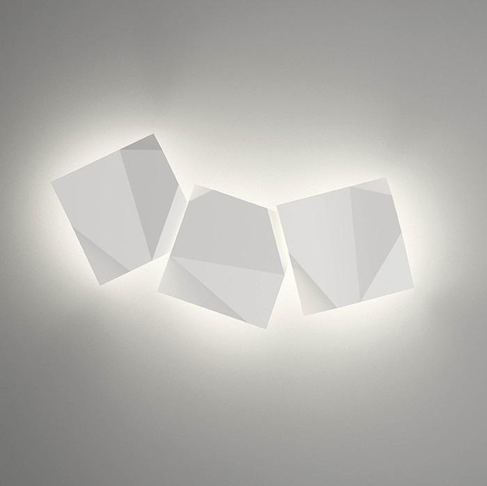 Vibia origami applique triplo laccato bianco 4506 03 - Applique origami ...