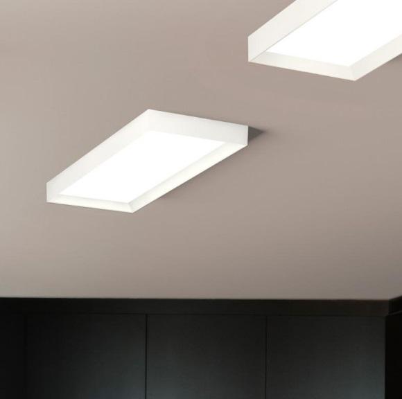 Vibia up plafonnier rectangulaire 1 x plaque 4452 93 for Plafonnier rectangulaire design